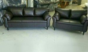 NEW 7X9FT BROWN LEATHER SECTIONAL COUCHES for Sale in Victorville, CA