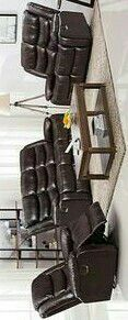 Miami 3pc Reclining Living Room Set Black for Sale in Houston, TX