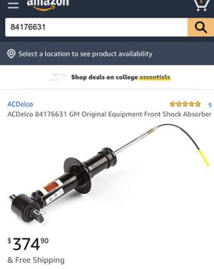 Brand new OEM AC Delco Shock absorbers for a 2018 GMC Yukon would fit other vehicles magnetic suspension front end for Sale in Miami, FL