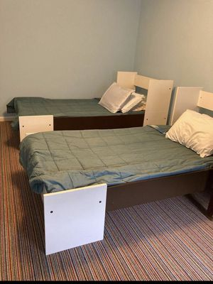 Twin bed can convert to bunk bed with mattress for Sale in Fairfax, VA