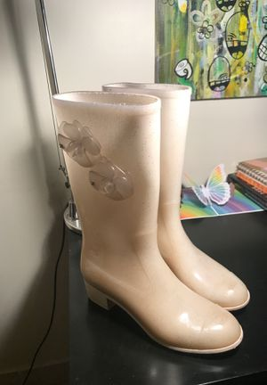 Chanel rain boots for Sale in Palm Springs, CA