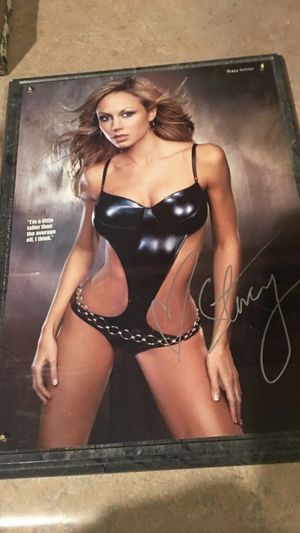Stacy Keibler Autographed Plaque for Sale in Tolleson, AZ