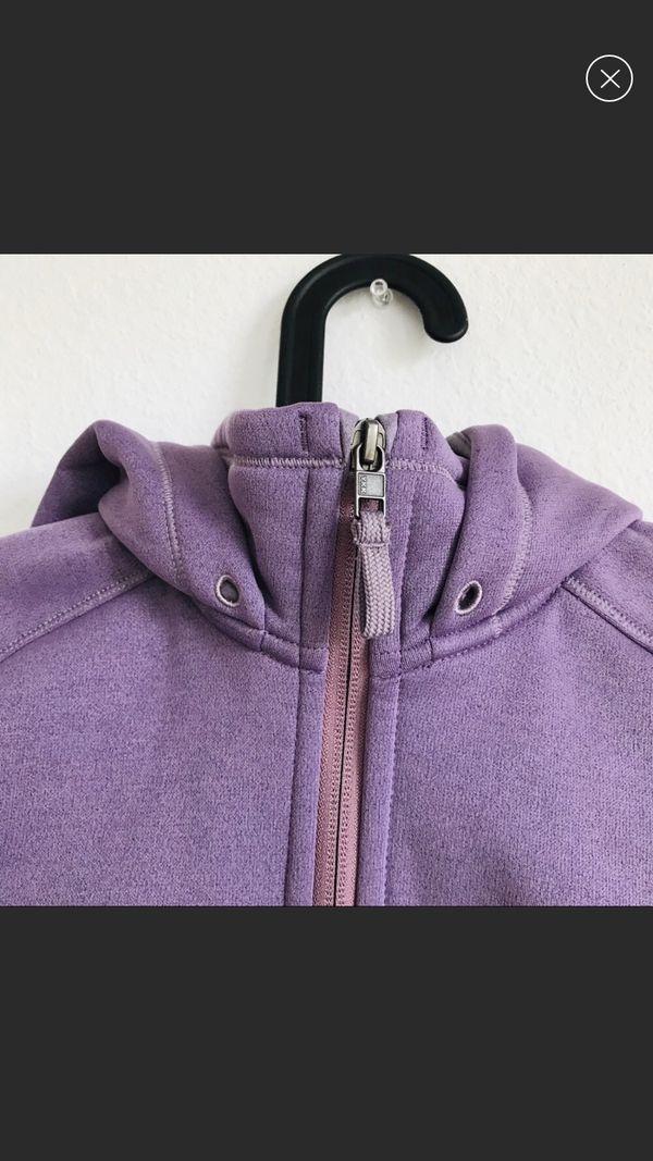 Patagonia purple inner fleece hoodie