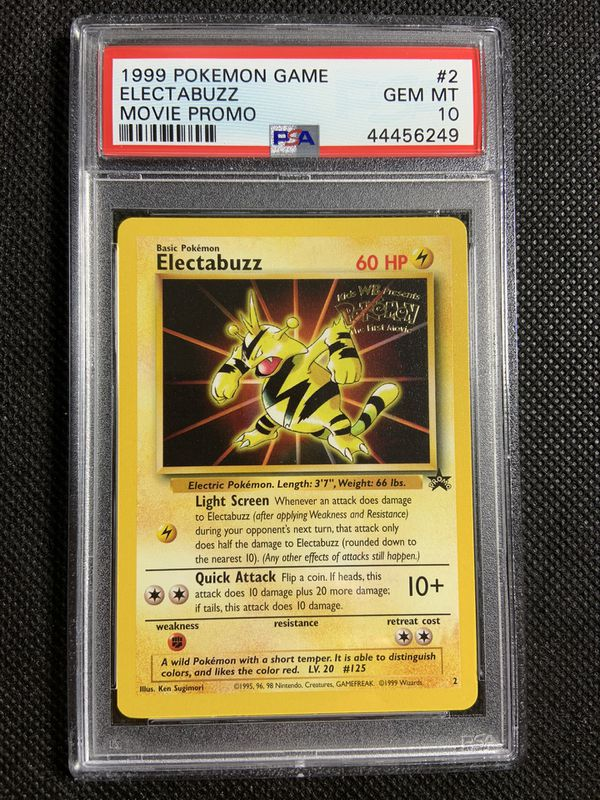 1999 psa 10 gem mint pokemon electabuzz movie promo