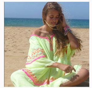 Dress Fleur de Pirate one size Yellow Embroidered Hippie Boho Coachella for Sale in Miami, FL