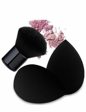 Brand new Black Makeup Sponges with Kabuki Brush, Dry or Wet Dual Use, Flawless Blender Beauty Sponge for Powder, Cream and Liquid Application, The s for Sale in Arnold, MO