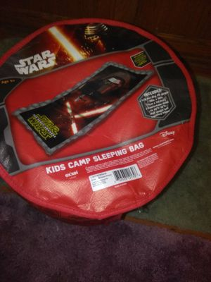 Star wars sleeping bag easy fold up in bag for Sale in Bridgeview, IL