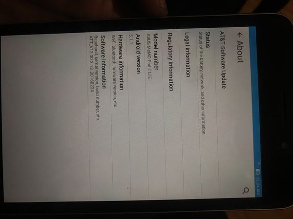 ASUS MeMo pad 7 LTE 16GB  AT&T tablet for Sale in Shepherdsville, KY -  OfferUp