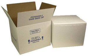 2 Insulated Styrofoam coolers 2 shipping box coral ice refrigerated for Sale in Silver Spring, MD