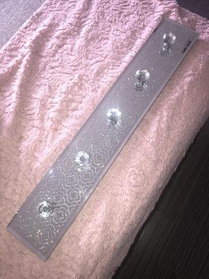 Shiny Silver Glitter Closet Organizer for Sale in Las Vegas, NV