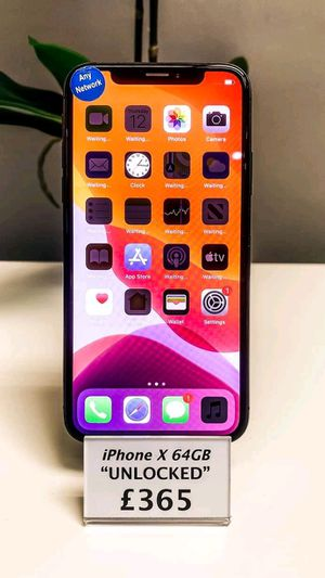 iPhone x unlocked 64GB available black for Sale in St. Louis, MO