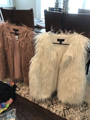Several Faux Fur (Various Colors) Jackets and Vests (Priced PER Item) for Sale in Salt Lake City, UT