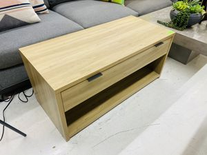 Coffee Table With Drawer, Natural Color for Sale in Santa Clara, CA