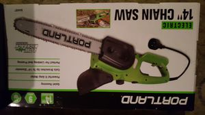 "Portland 14"" electric chainsaw for Sale in WILKINSONVILE, MA"