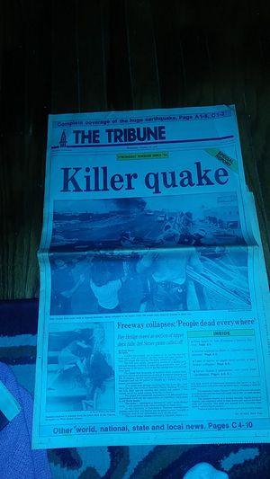 The Tribune Newspaper 1989 Killer Quake for Sale in San Leandro, CA