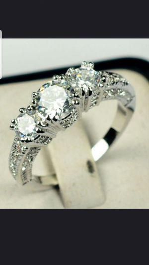 Sterling silver white sapphire ring available in sizes 7&8 for Sale in Dundalk, MD