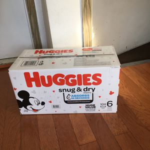 HUGGIES SIZE 6 104 pañales for Sale in Compton, CA