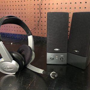 Desktop Computer Speakers and Headphones with Microphone for Sale in Manchester Township, NJ