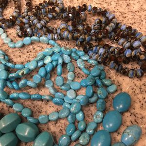 Genuine gemstone beads lot mix collection loose set for Sale in Seattle, WA
