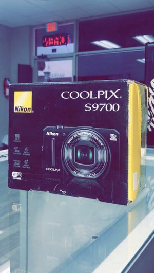 Nikon COOLPIX S9700 16.0 MP Wi-Fi Digital Camera with 30x Zoom NIKKOR Lens, GPS, and Full HD 1080p Video (Black) for Sale in Arlington, TX