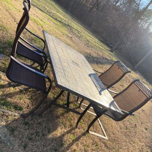 Sunbrella 6 Foot Table 4 Chairs for Sale in Graham, NC