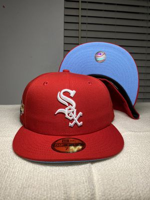 Chicago White Sox Red New Era 5950 Fitted Icy Blue UV 2005 World Series Patch Hat Club Exclusive for Sale in Carson, CA