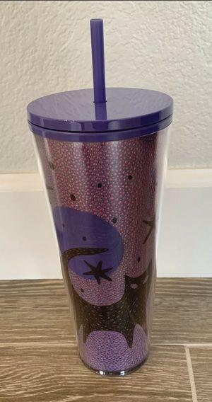 Starbucks Halloween 2020 Black Cat Moon Stars Purple 24oz Venti Cold for Sale in El Paso, TX