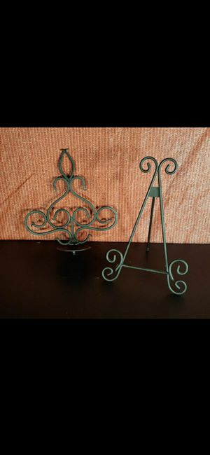 Iron candle holder and picture frame or stand for Sale in Lakeside, CA