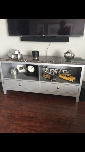 Beautiful console with shelves and drawers. 60w x 31h x 18d Beautiful addition to any room! for Sale in Phoenix, AZ