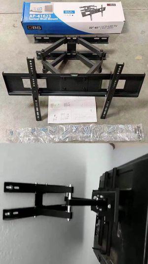 New in box universal 32 to 65 inch swivel full motion tv television wall mount bracket 120 lbs capacity includes hardware screws soporte de tv FREE H for Sale in Los Angeles, CA