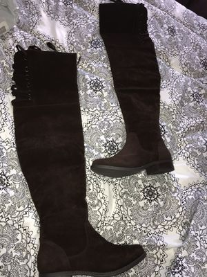 Chocolate Lace-Up Thigh High Boots -size 10 for Sale in Austin, TX