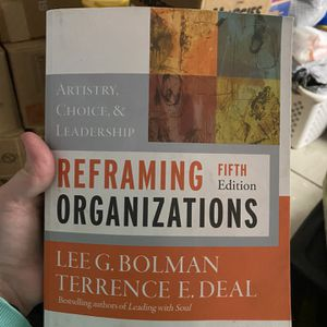 Reframing Organizations Textbook for Sale in Fresno, CA