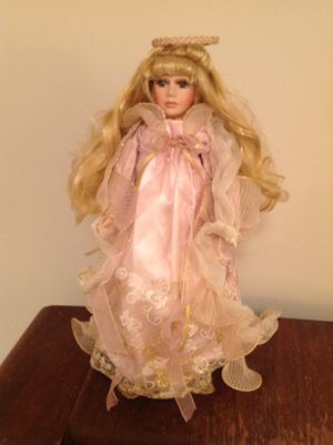 Beautiful porcelain angel doll for Sale in Tremont, IL