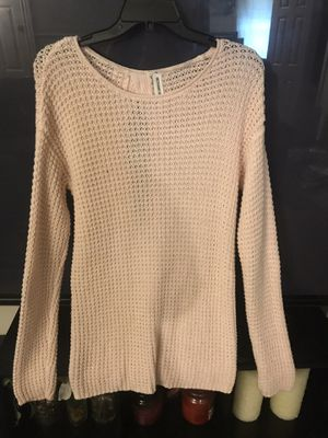 Pink Tunic Sweater with open back bow for Sale in Audubon, NJ