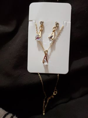 Diamond Earring & necklace set for Sale in Manassas, VA
