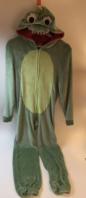 Dinosaur swamp monster onesie costume dress up Halloween kids size 14 for Sale in Everett, WA