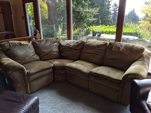 12' Lazyboy 5 piece fabric sectional for Sale in Seattle, WA