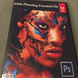 Adobe Photoshop CS6 Extended for Windows, DVD disc installation for Sale in Marianna, PA