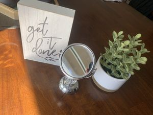 Desk / Office / Home Decor - Fake Plant, Mirror, Sign for Sale in Santee, CA
