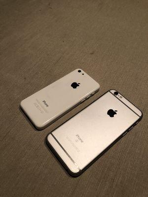 iPhone 6s iCloud locked, iPhone 5c unlocked for Sale in Phoenix, AZ