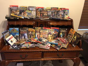 55 PC games. Just added 46 more. That's over one hundred games. some with enveloped covers I didn't count. for Sale in Clinton, TN