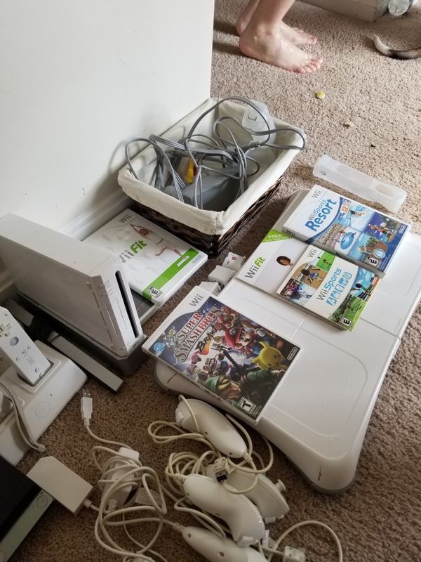 Wii w/ wii fit and wii sports resort
