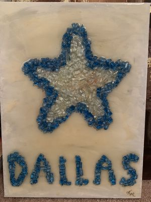 Dallas Cowboys glass art for Sale in Fort Worth, TX