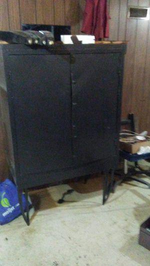 Black metal storage locker for Sale in Lincoln Park, MI