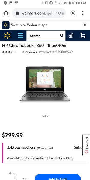 HP chromebook laptop 360 convertible PC. 11 inch screen for Sale in Kent, WA