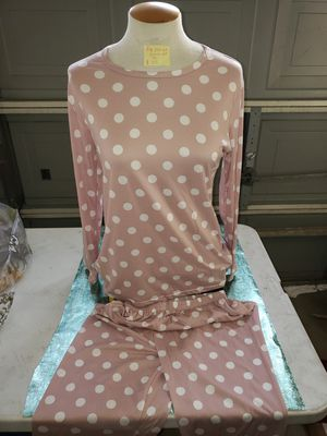 pink poka dot pajamas woman fits most for Sale in Bakersfield, CA