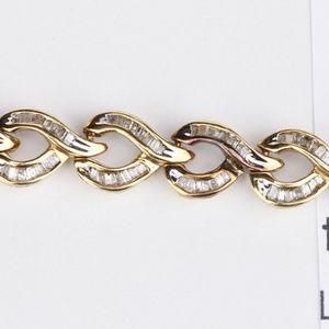 10k Diamond Bracelet 2 ctw Baguettes for Sale in Avondale, AZ