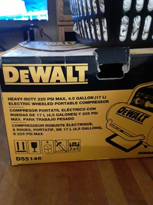 Dewalt compressor for Sale in Riverdale, GA