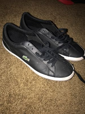Men's Lacoste black shoes size 9 for Sale in Lawndale, CA