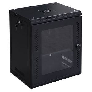 Costway 12U Wall Mount Network Server Data Cabinet Enclosure Rack Glass Door Lock for Sale in Whittier, CA
